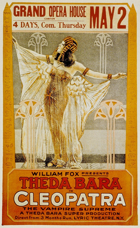 Cleopatra, Theda Bara & Fritz Leiber, Thurston Hall, 1917 - Foto ...
