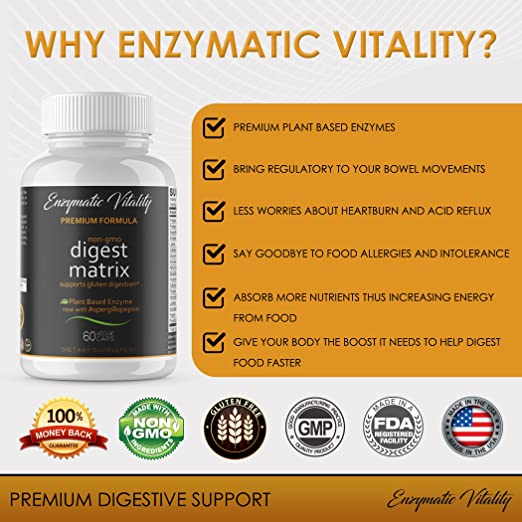 Amazon.com: Digestive Enzyme Supplements, Plant Based Digestive Supplements - IBS Leaky Gut Enzymes- Stop Bloating, Constipation Relief, Acid Reflux, ...