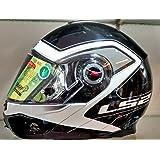 LS2 268299 Flip-Up Helmet (Black, L)