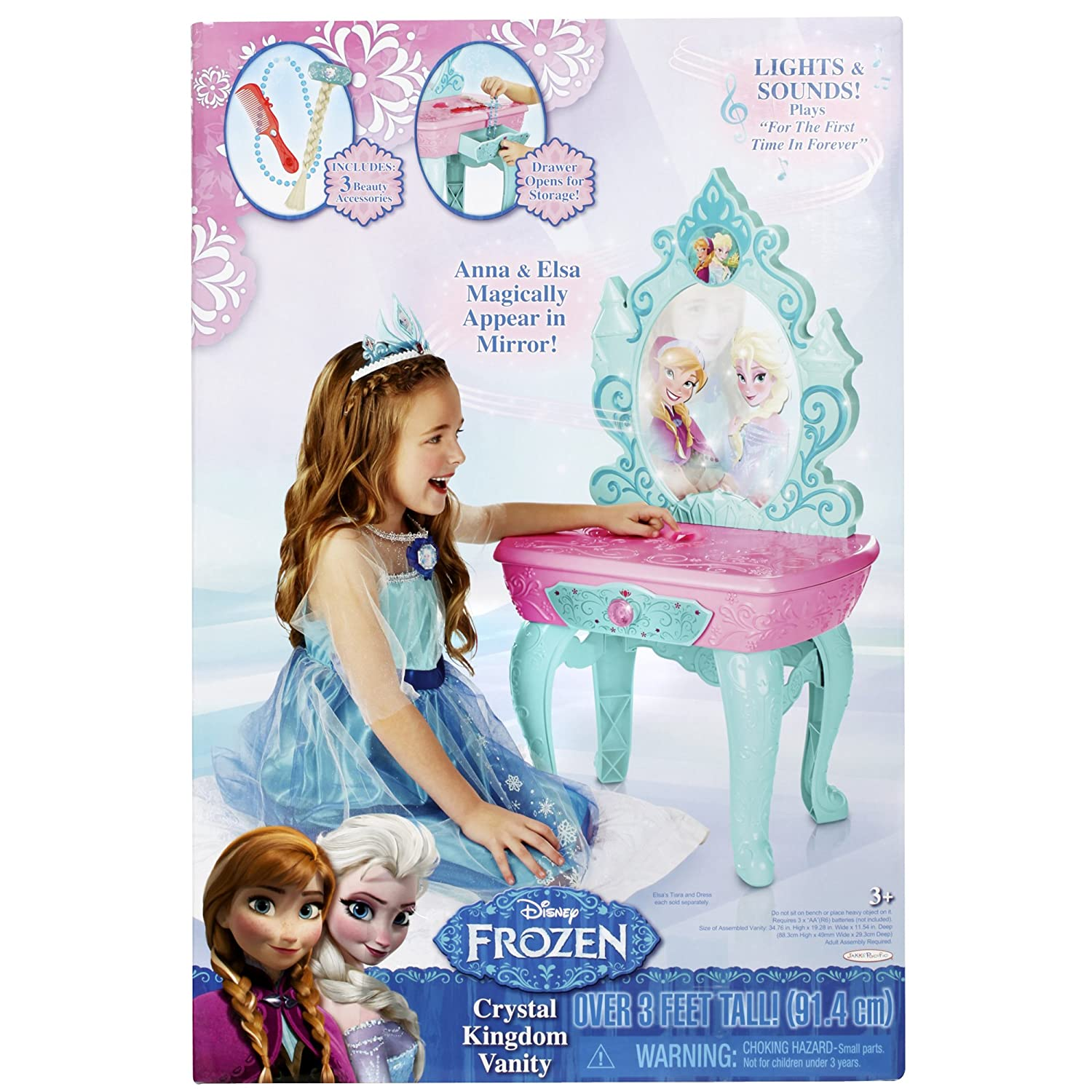 sc 1 st  Amazon.com & Amazon.com: Frozen Disney Crystal Kingdom Vanity: Toys u0026 Games