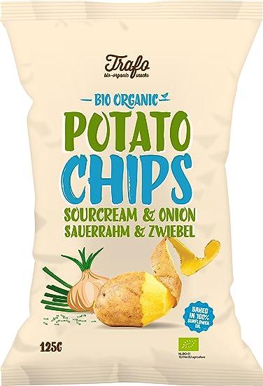 Trafo Patatas Fritas con Nata y Cebolla- Paquete de 12 x 125 gr - Total
