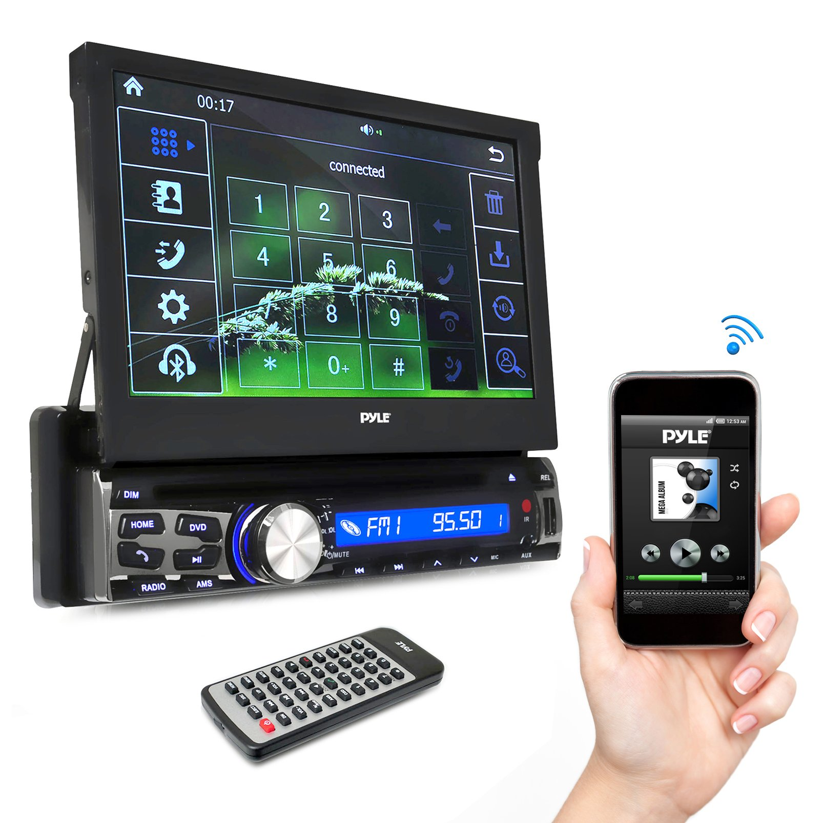 Pyle AZPLDT87BT 7'' Bluetooth Headunit Receiver