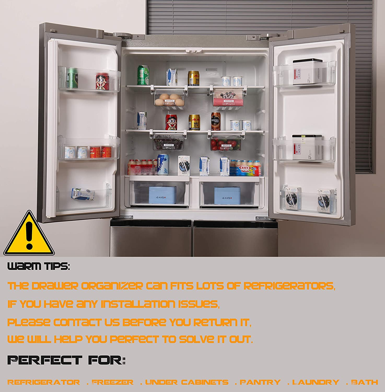 HapiLeap Cajón de Organización para Nevera con Diseño Exclusivo (1 ...