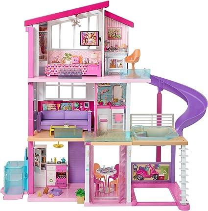 Amazon Es Barbie Casa De Muñecas Con Accesorios La Casa De Tus Sueños Con Elevador Nuevo Mattel Gnh53 Juguetes Y Juegos