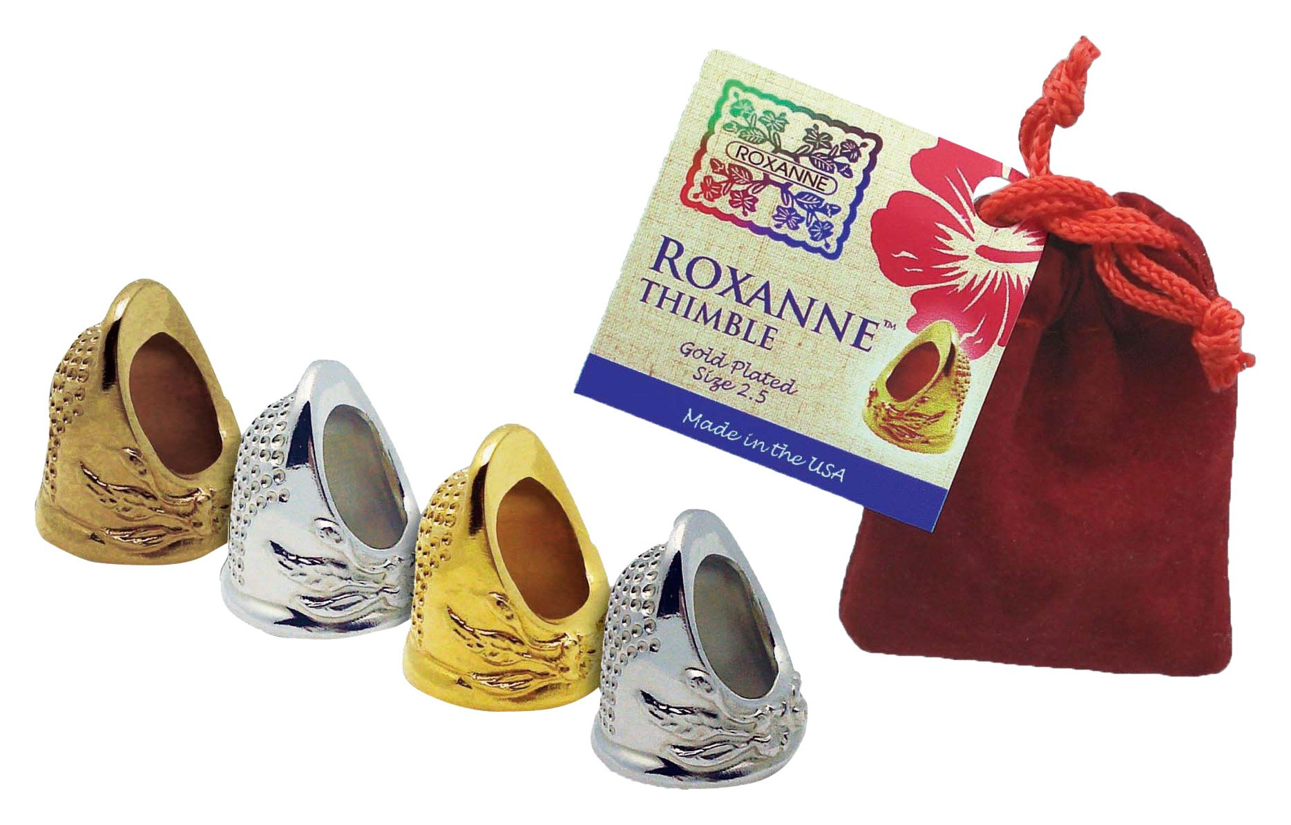 Colonial Needle RX-THGD-4 Roxanne Plated Thimble, Size 4, Gold by Colonial Needle