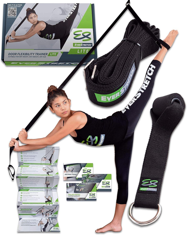 EverStretch Estiramiento de piernas: Mejora tu flexibilidad con el Equipo de Entrenamiento de Flexibilidad LITE para puertas. Dispositivo de Entrenamiento Premium para ballet, danza, MMA,etc