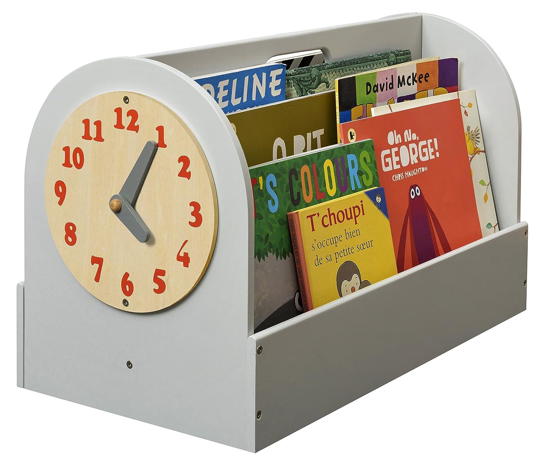 Kids Books Storage Box White HANDMADE Tidy Books 13.8 x 21.7 x 12.2 in Wooden Box Kids Bookshelf The Original Tidy Books Box Book Display ECO Friendly