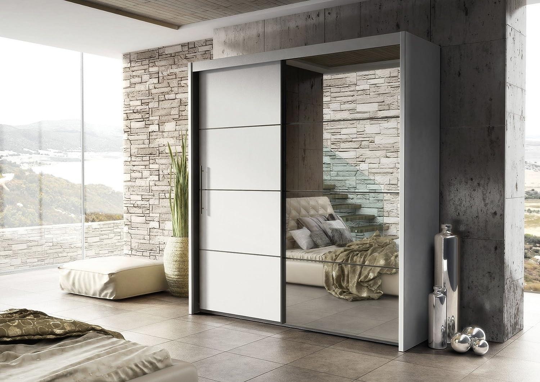 Cantor grande armario de puertas correderas blanco mate cffamcar-wh: Amazon.es: Hogar
