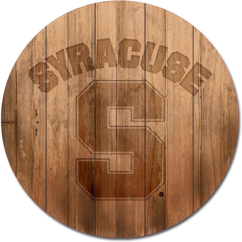 Wood NCAA Legacy Syracuse Orange Barrel Top Wall Mount One Size 26 x 26