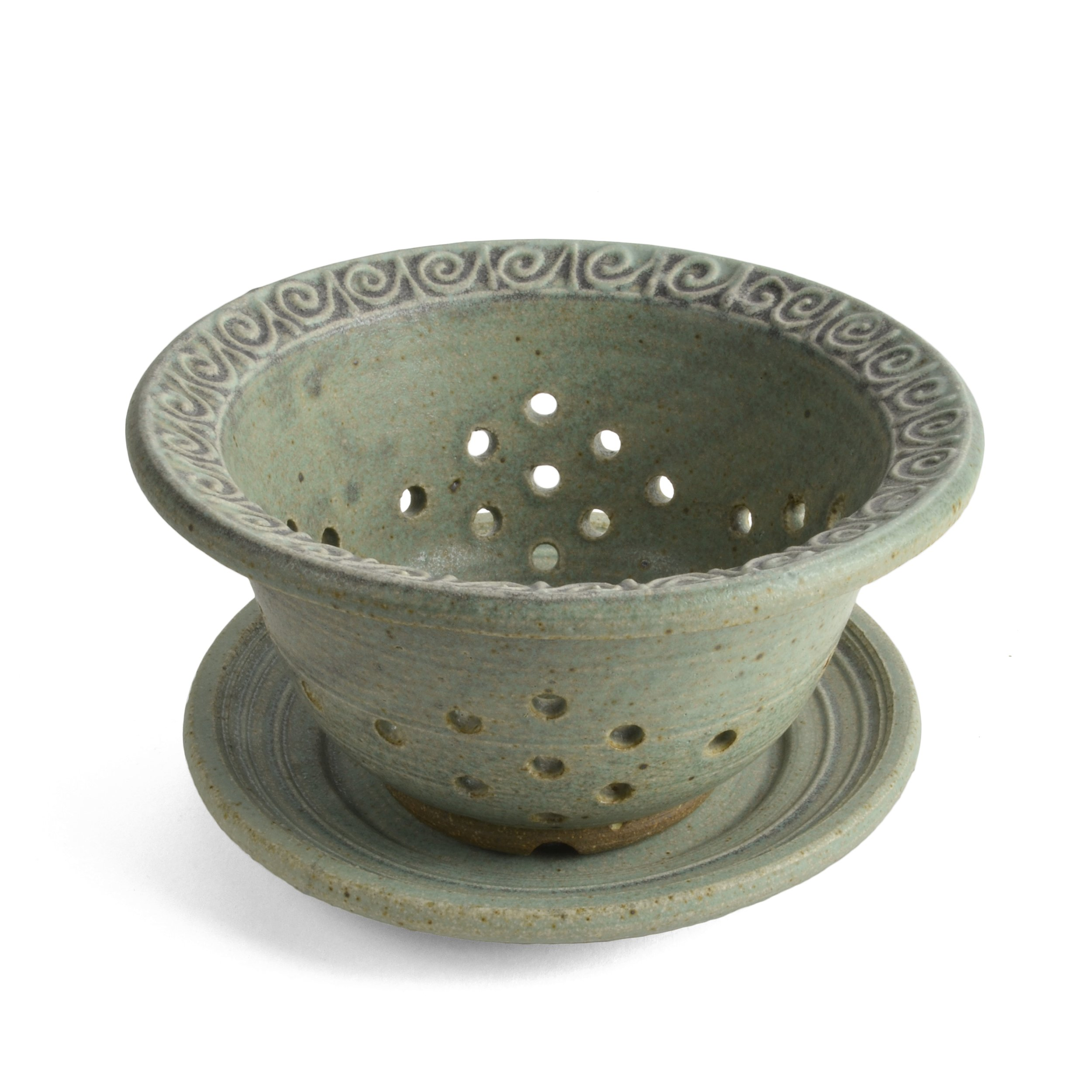 The Potters, LTD Berry Bowl, Soft Green by The Potters, LTD