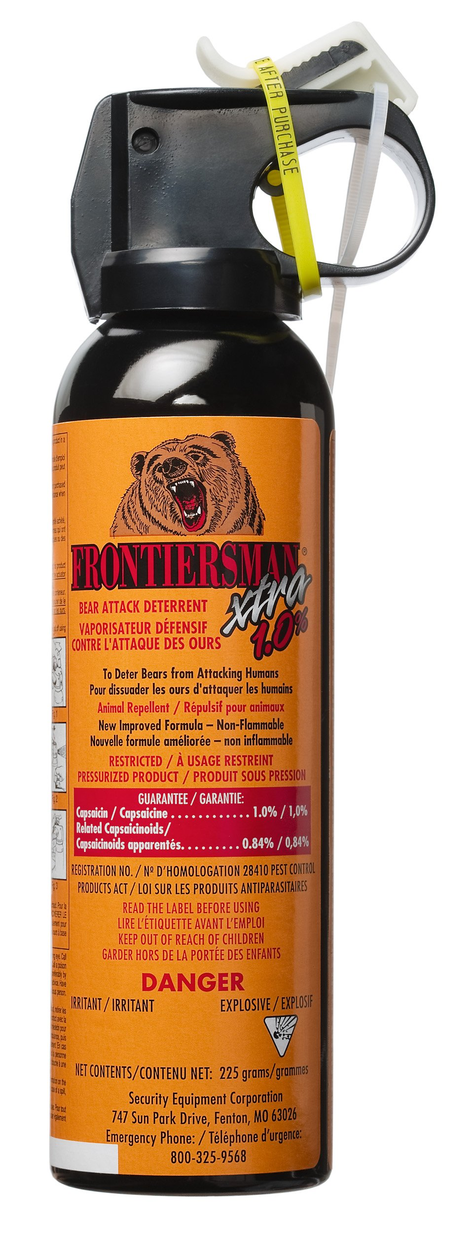 Bear Protection With Frontiersman Bear Spray: Frontiersman XTRA Bear Spray