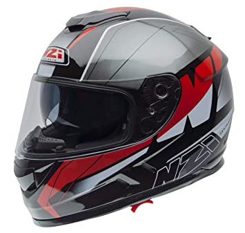 NZI Cascos Integrales, Mega Black Red, Talla S