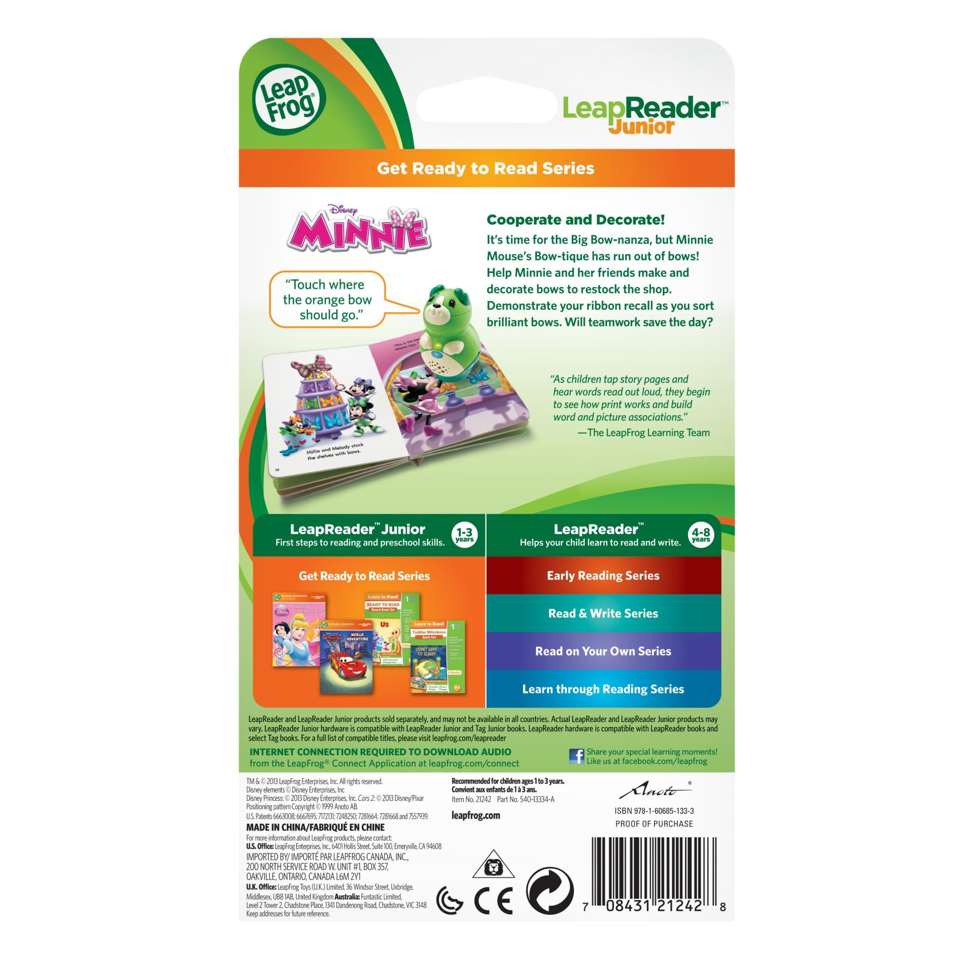 LeapFrog LeapReader Junior Book Disney Minnie (Works with Tag Junior) by LeapFrog (Image #4)