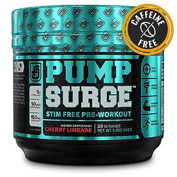 08fcb4efdc0 Amazon.com  PUMPSURGE Caffeine-Free Pump   Nootropic Pre Workout ...