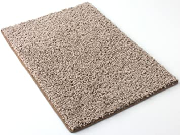 Amazon Com 9 X12 Beige Area Rug Frieze Plush Textured Carpet For Residential Or Commercial Use Approximately 1 2 Thick With Binding Furniture Decor