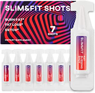 Slim&Fit Shots - The Only Working Weight Loss Pills for Women - Appetite Suppressant, Fat Burner and Metabolism Booster with L-Arginine, Garcinia Cambogia and Guarana - 9 Weeks Supply
