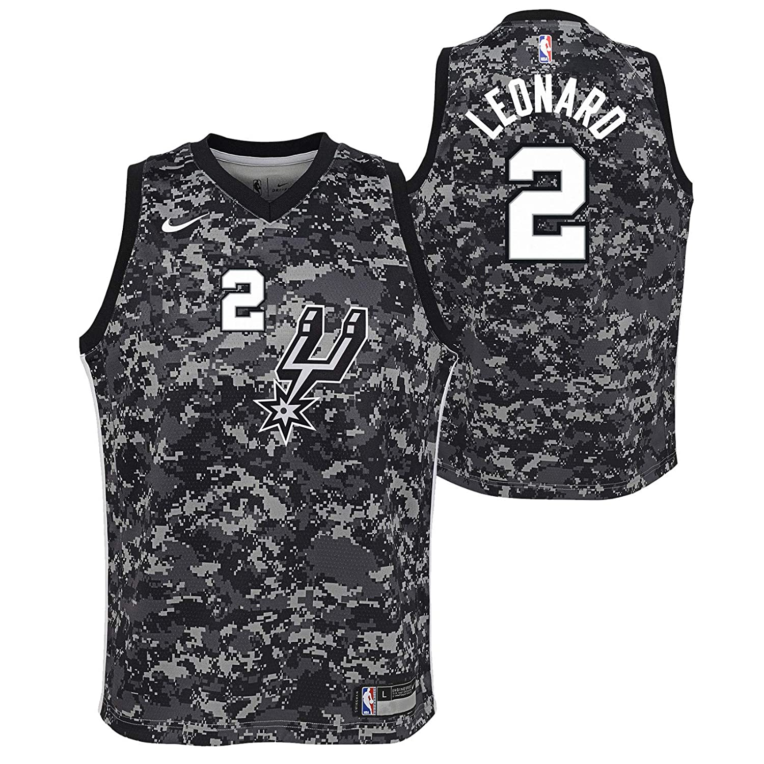 fea19b70ed5 Amazon.com : Outerstuff Kawhi Leonard San Antonio Spurs NBA Nike Youth  Black City Edition Swingman Jersey : Clothing