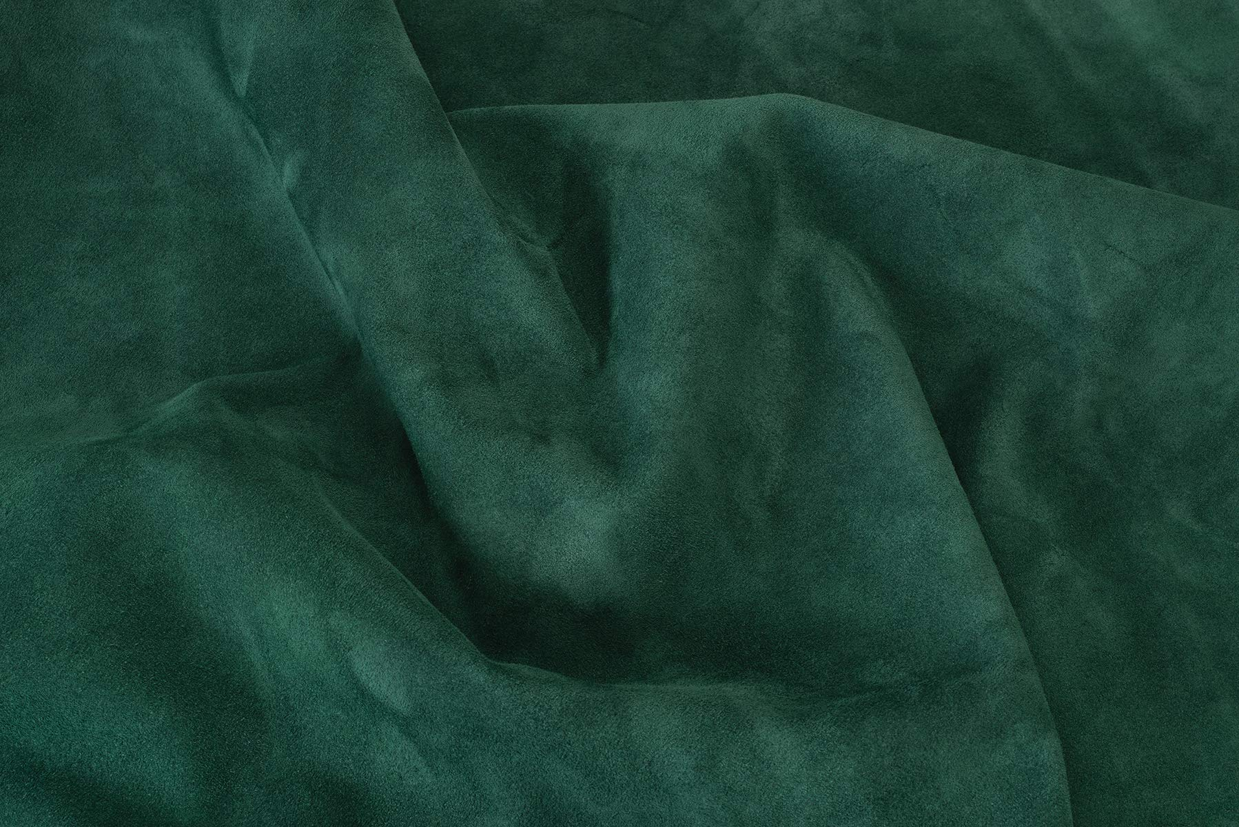 Suede Leather Cowhide, Forest Green