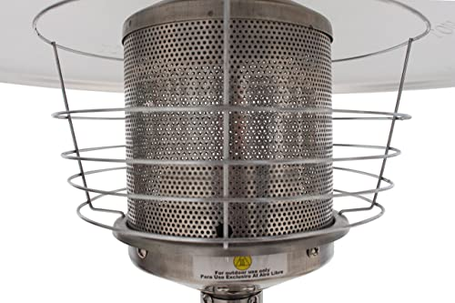 GLOBAL AIR GLD-SS Table Top Stainless Steel Patio Heater
