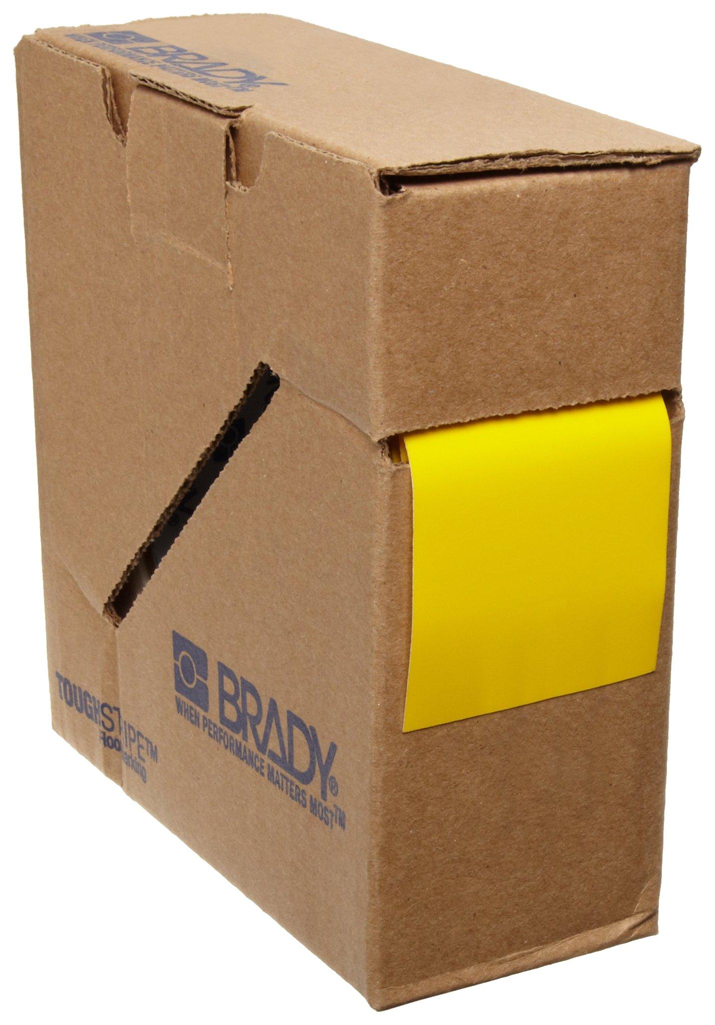 Brady ToughStripe Floor Marking Tape - Yellow, Non-Abrasive Tape - 2'' Width, 100' Length - 104312 by Brady