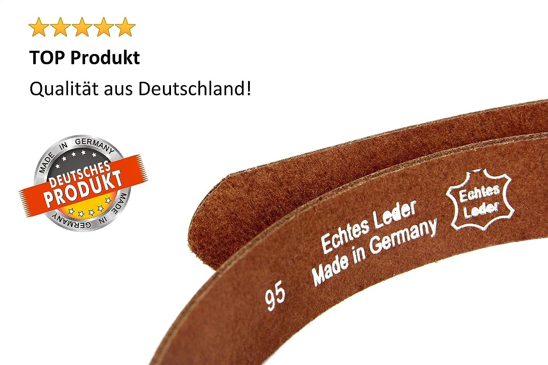 Braun Made in Germany Frentree Lederg/ürtel 100/% Echt Leder 3 cm breit und 0.25 cm stark