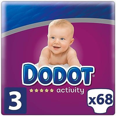 Dodot Activity - Pañales Talla 3, 68 Pañales, 6-10 kg