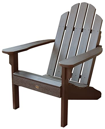 Highwood Classic Westport Adirondack Chair, Weathered Acorn