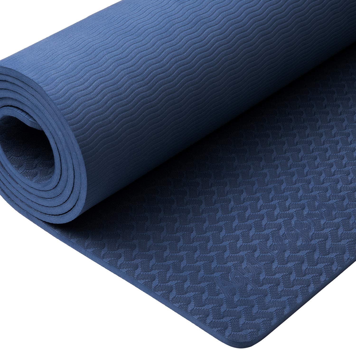 Aqui Legend Yoga Mat-Upgraded Non-Slip Exercise Mat with Carry Strap,Extra Thick Odorless Pilates Workout Mat for Hot Yoga, Pilates & Floor ...