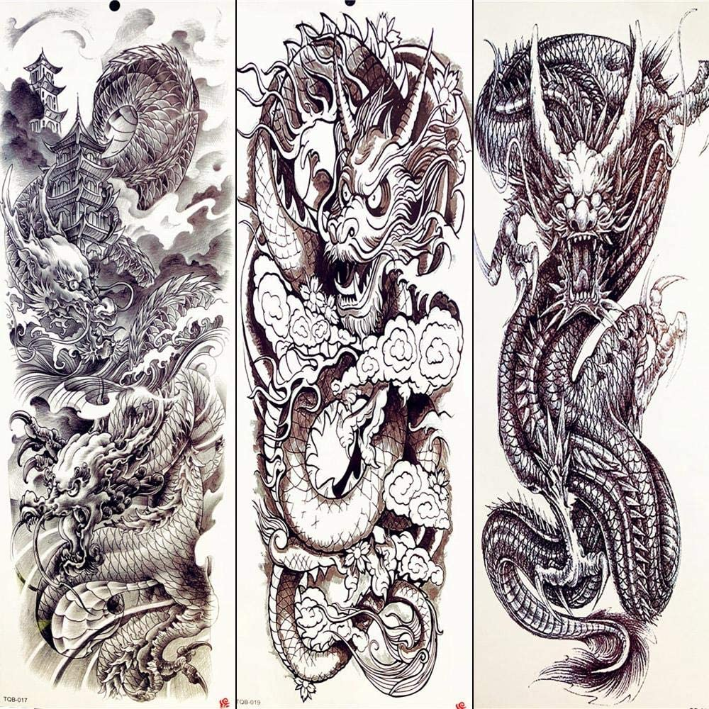 Tatuajes De Tótem Tatuajes Temporales De Verano Dragón Chino ...