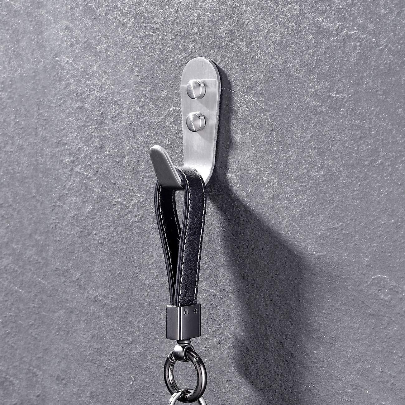 KES Doppelhaken Kleiderhaken Garderobenhaken Handtuchhaken aus hochwertigem Edelstahl mit Deckel zur Wandmontage Geb/ürsteter A2164-2