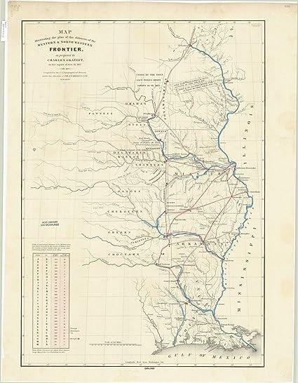 Amazon com: Historic Map   United States 1837   Map Illustrating The