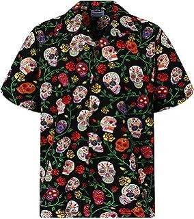 Amazon.com: Funky Hawaiian camisa para hombre manga corta ...