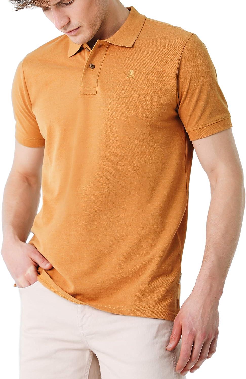 Scalpers Melange Polo - Polo para Hombre, Talla XL, Color Ocre ...