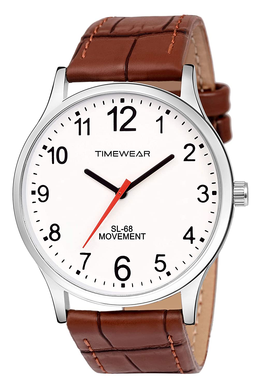 TIMWEAR Men's Watch (Brown Colored Strap)
