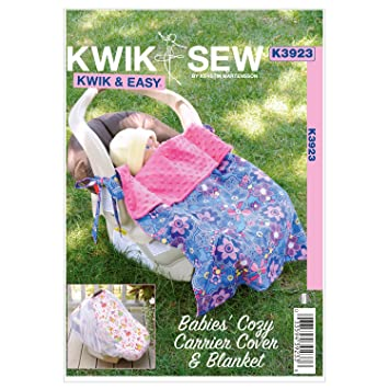 Amazon.com: Kwik Sew K3923 Babies Cozy Carrier Cover and Blanket ...