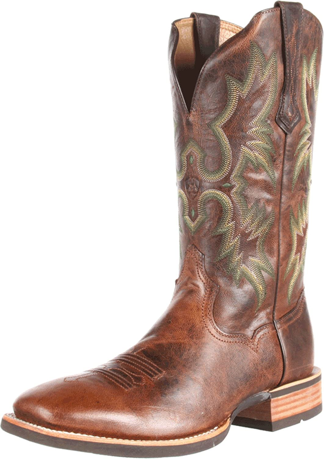 most bootdaddy brown womens cowboy tan corral toe boots pfis jute inlay square cowgirl comfortable with collection comforter