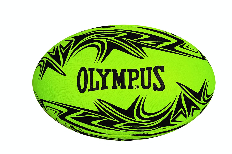 Olympus Islander Rugby Ball, Lime/Black, Size 4 232