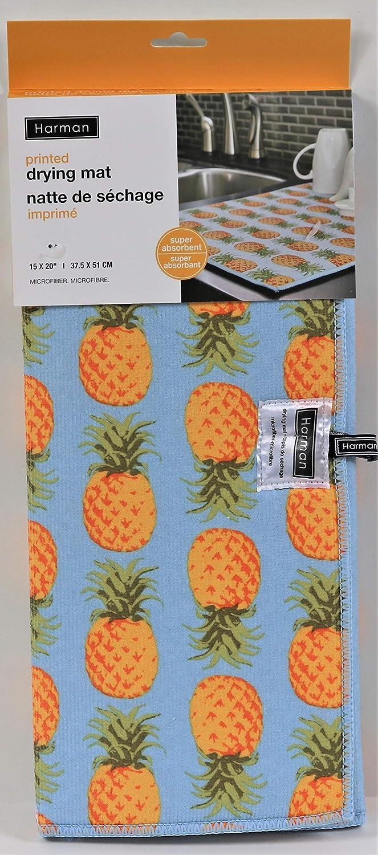 Tea Party Print NEW Harman Dish Drying Mat LARGE 15x20 Microfiber