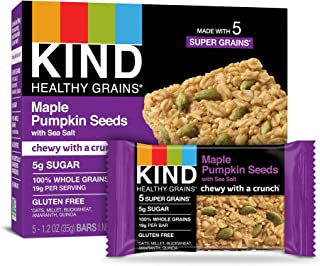 product image for KIND Healthy Grains Bars, Maple Pumpkin Seeds with Sea Salt, Non GMO, Gluten Free, 1.2oz, 5 Count (Pack of 3)