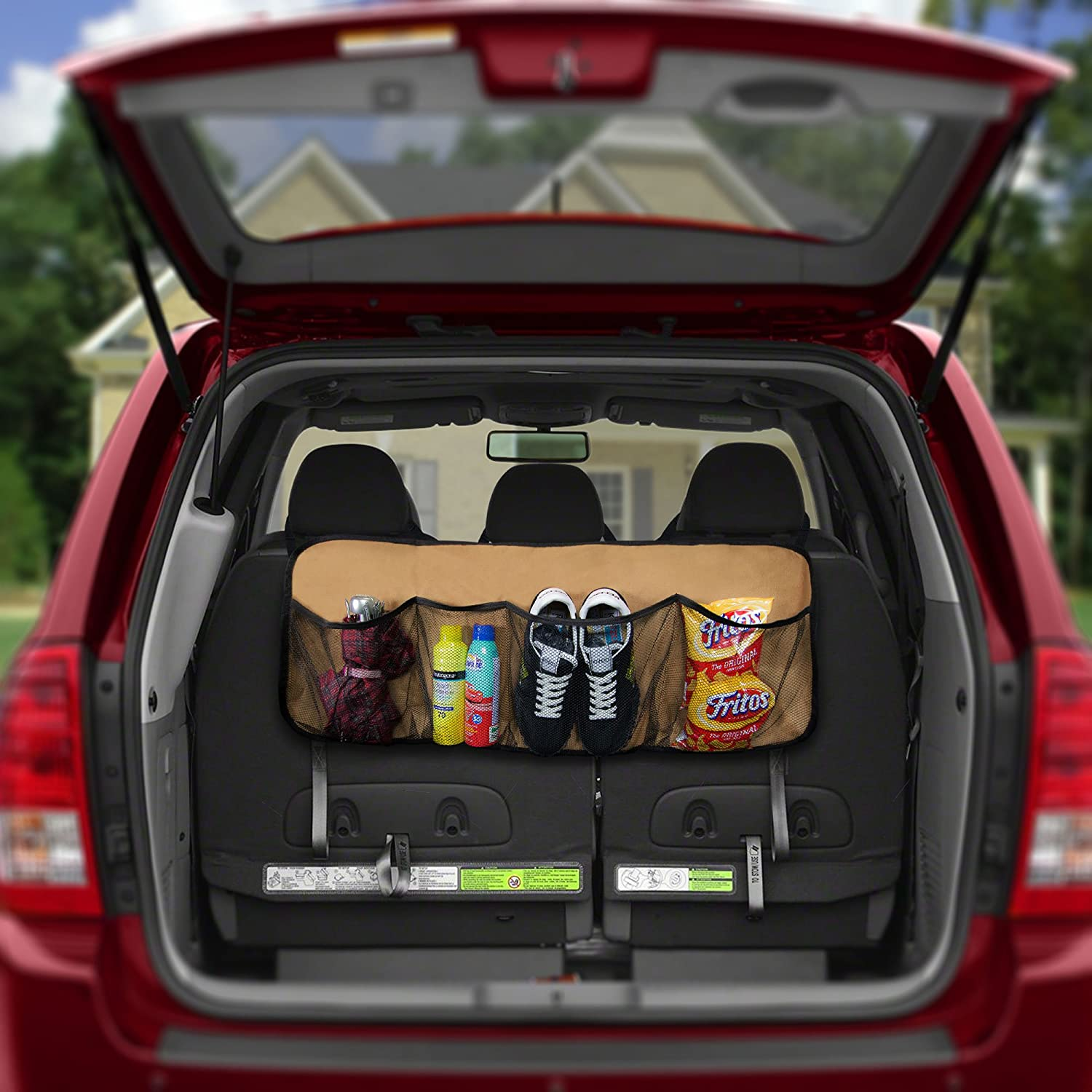 Multi-Pocket Storage Collapsible Easy Carry Perfect Garage Grocery Store FH Group FH1122GRAY Car Trunk Organizer 1 Pack