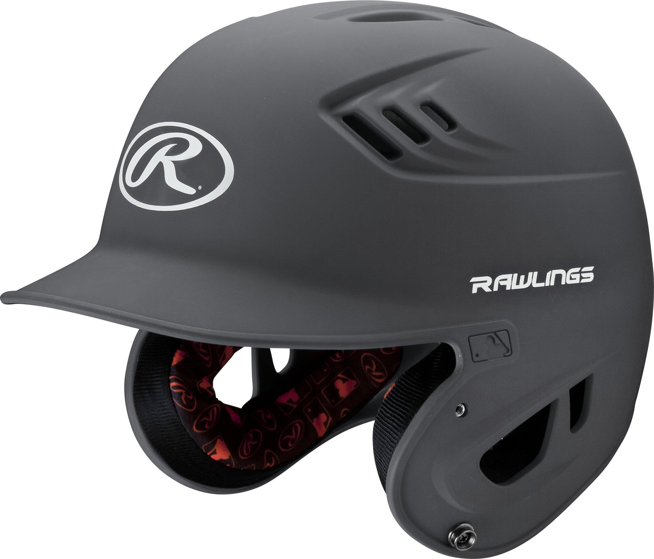 Rawlings R16 Series Matte Batting Helmet, Graphite, Senior by Rawlings