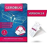 Gerobug Lebensmittelmotten-Falle x 3 + Bonus E-Book | Mottenfalle Lebensmittel zum Lebensmittelmotten-Nachweis| Persönliche Betreuung durch Schädlingsprofi | Endlich Wieder Mottenfrei