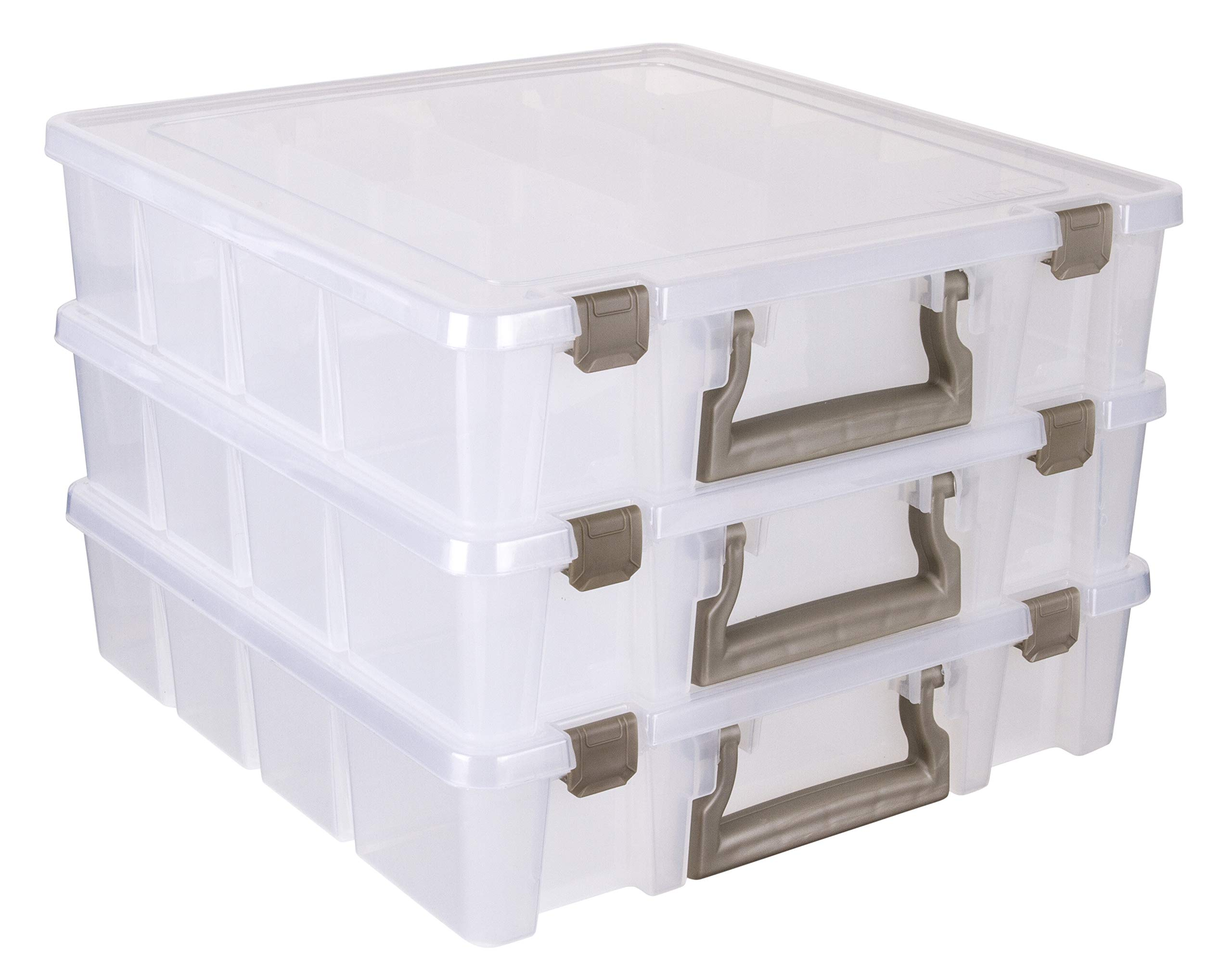 Gold Portable Art /& Craft Organizer with Handle