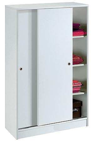 armario auxiliar zapatero multiusos blanco brillo de puertas correderas estantes regulables para oficina