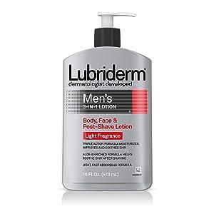 Lubriderm Men's 3-In-1 Body Lotion With Light Fragrance, 16 fl. oz