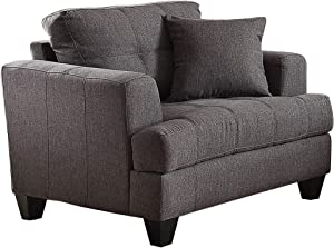 Coaster Samuel Tufted Chair, In Charcoal