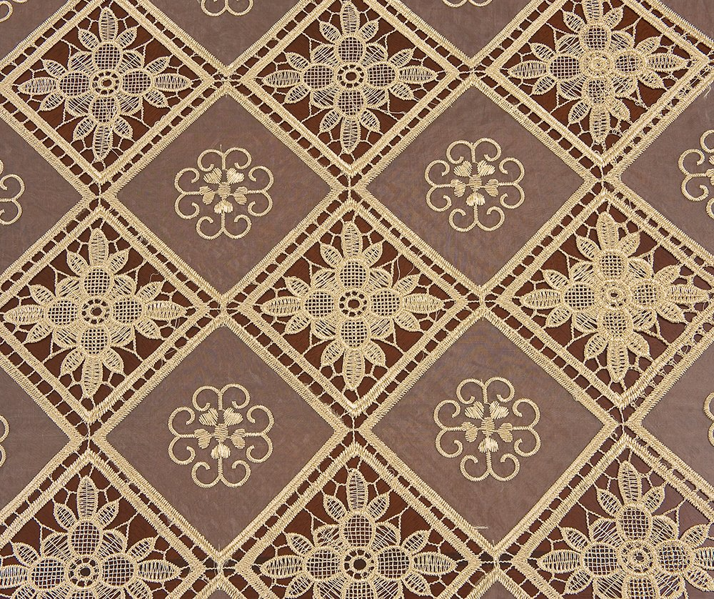 Simhomsen Oval Beige Lace Tablecloth Embroidered Linens For Dining Table Customer Order (60 x 84-inch oval) by Simhomsen (Image #2)