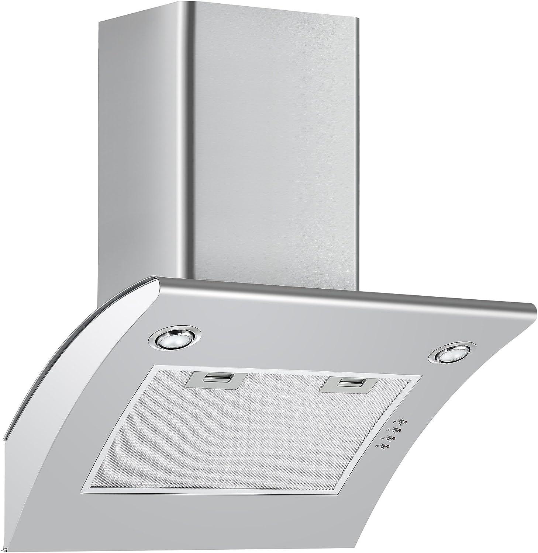 cookology arch600ss 60 cm ventilador EXTRACTOR | ángulo acero inoxidable chimenea Kit de ventilación y campana: Amazon.es: Grandes electrodomésticos