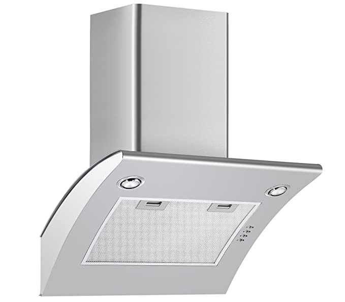 Large Appliances Home & Kitchen Ducting Kit included Cookology ANG605SS S/Steel 60cm Angled Extractor Fan