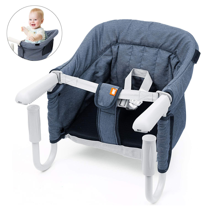 Mesa Asiento de mesa para beb/é plegable Trona de Viaje Arn/és de 5 puntos Sillita para beb/é ajustable a la mesa